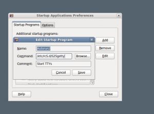 Adding a new program Startup Applications in System Preferences section of main Gnome menu