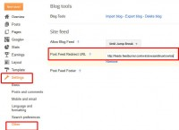 Setting a feed redirect URL in blogger dashboard