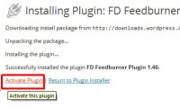 Activating feedburner redirect plugin in wordpress dashboard