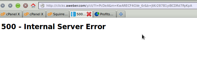 aweber.com internal server error