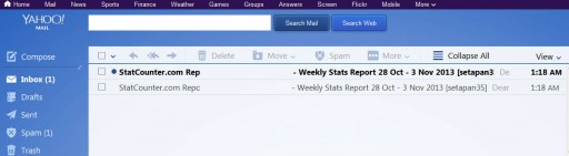 This is how the newest Yahoo Mail interface looks