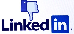 image showing disapproval thumbs down of linkedin